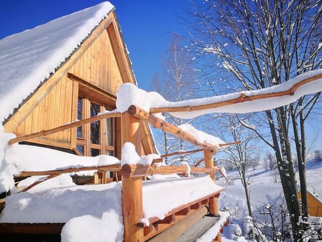 """Dziupla""- Berghütte mit Sauna in der Hohen Tatra"