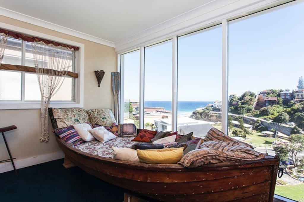 1930's Huon Pine boat daybed