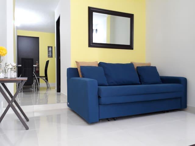Acogedor apartaestudio con excelente ubicacion