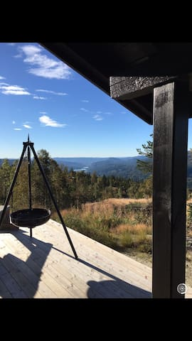Lovely cabin with panoramic view - Eggedal - Cabana