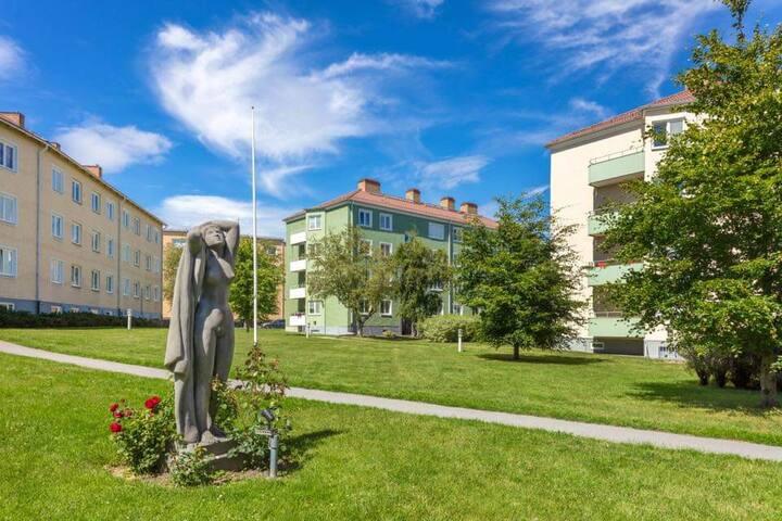 Vackra Norrköping stad nära Kolmårdens djurpark