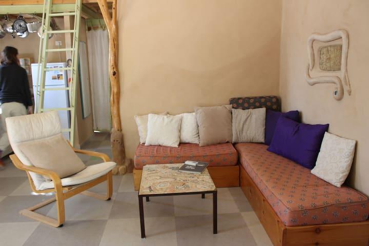 A straw bale cabin,  Moshav idan Arava