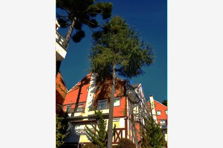 Campos do Jordão ' ape charmoso ' duplex 2 suites