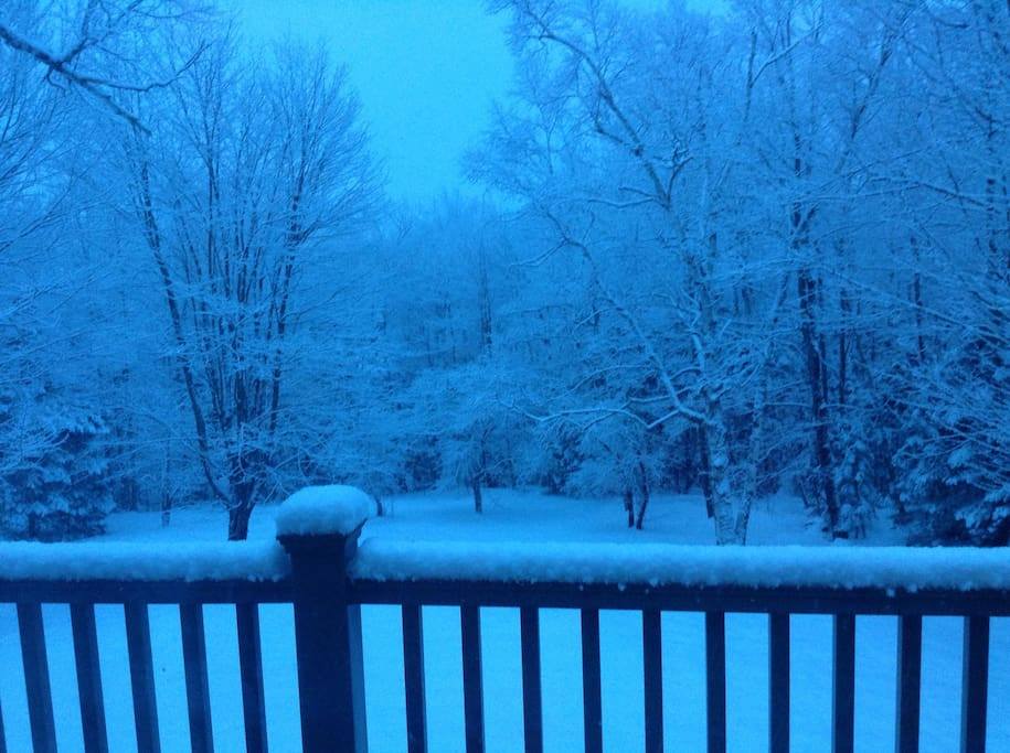 Early morning winter magic, view from the balcony