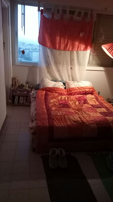 Your bedroom (: (: and the view from the window (: