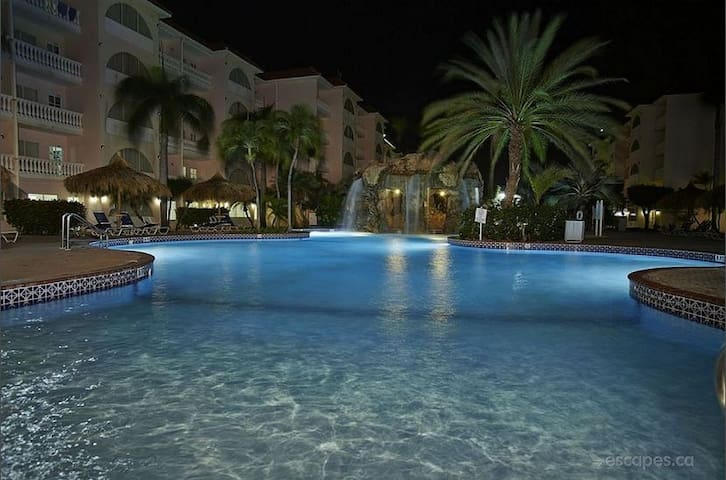 Aruba offers perfect temps to take a dip after dark....