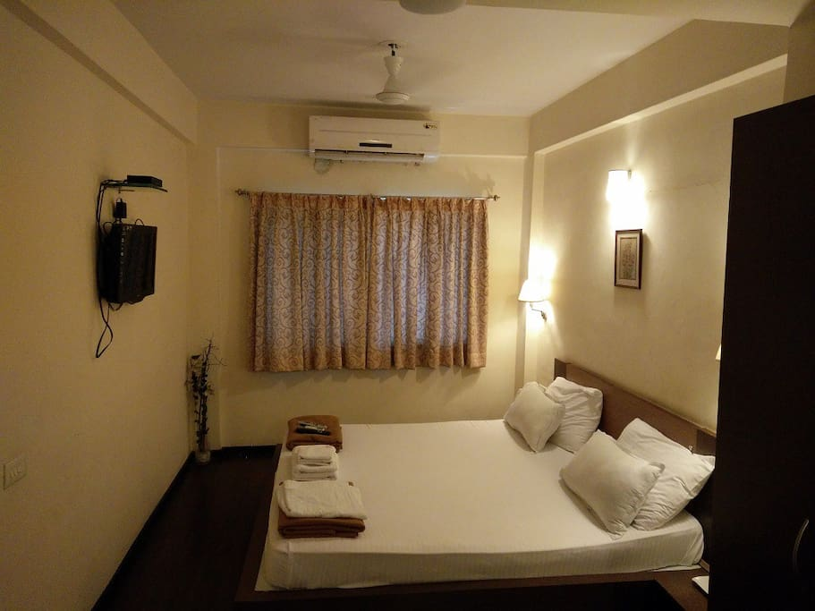 Comfortable Double bed with AC