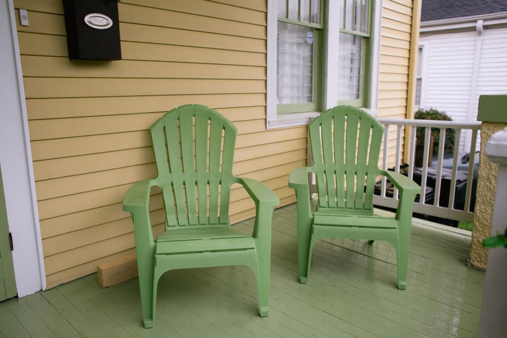 Seating on front porch.