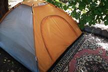 Tenda 2° con uso servizi della casa