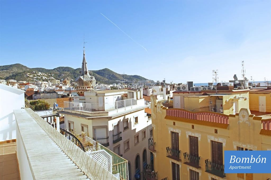 Breathtaking panoramic view of Sitges