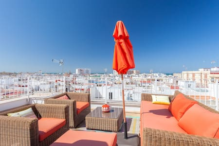 Old center rooftop apartment - Cádiz - Lejlighed