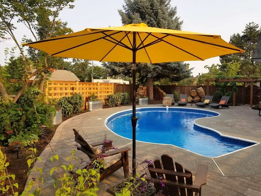 Take a dip in the (non-heated) pool April - October
