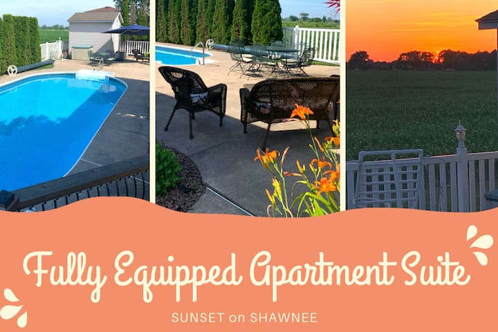 Sunsets on Shawnee - Executive Apt w/ Heated Pool