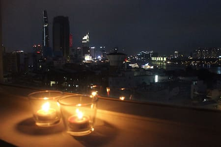 River view central apt great for couples/families - 胡志明市