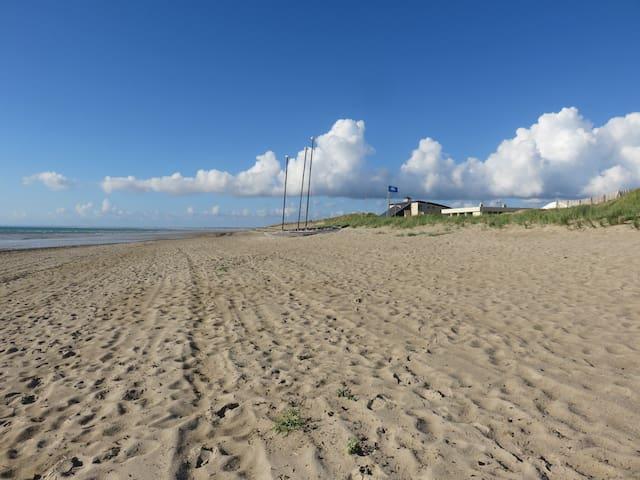 Maison à 100 m superbe plage de sable wifi gratuit - Gouville-sur-Mer