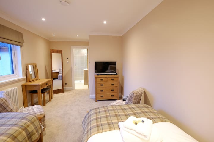 Stunning twin room with ensuite