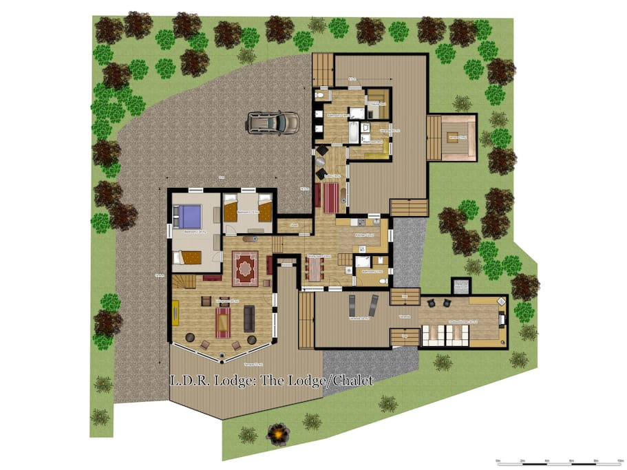 Floorplan The Lodge/Chalet ground floor