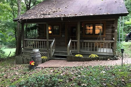 """NEW LISTING"" Hummingbird Creek Cabin @ Patoka Lake  A log cabin w/modern amenities!"