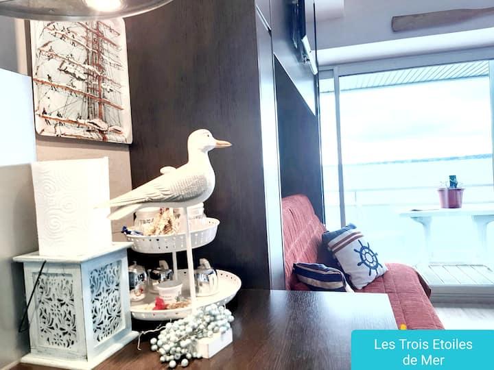 Studio front de mer : Les Trois étoiles de Mer