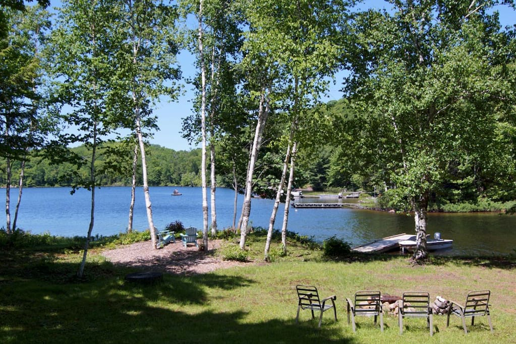 View from the deck onto Raven Lake