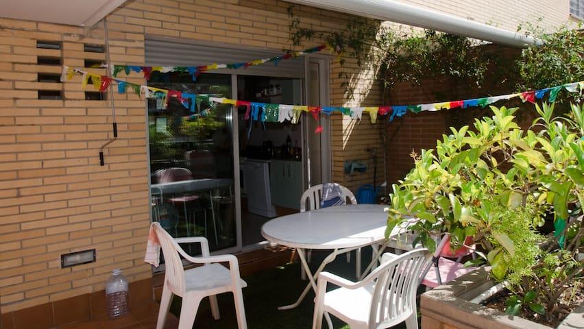 Terraza con acceso a cocina
