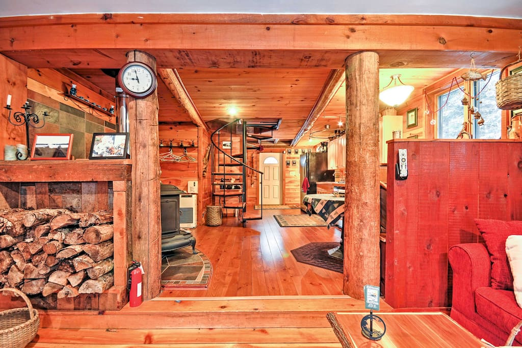 This warm cabin boasts 1,200 square feet of comfortable living space.