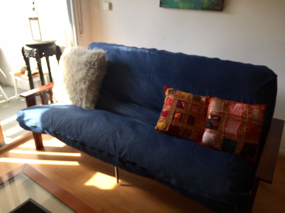 Sofa cama del living cerrado