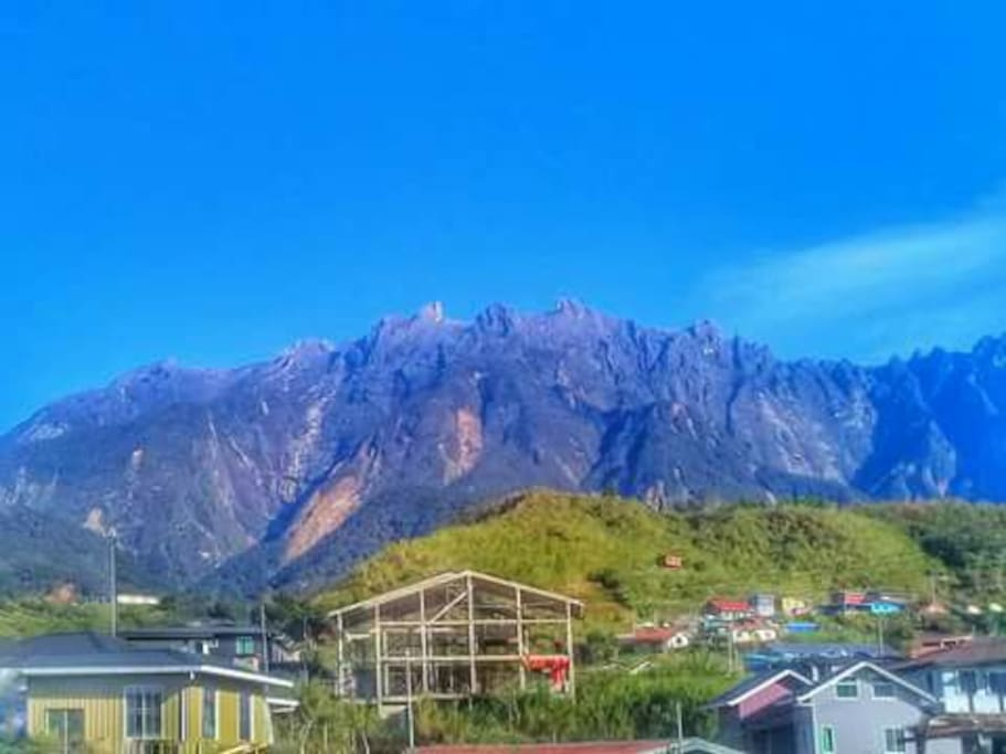 Mount Kinabalu stunning view from outside of the homestay