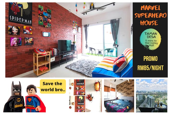 ★MARVEL SUPERHERO Fun House, 5mins Mid Valley mall