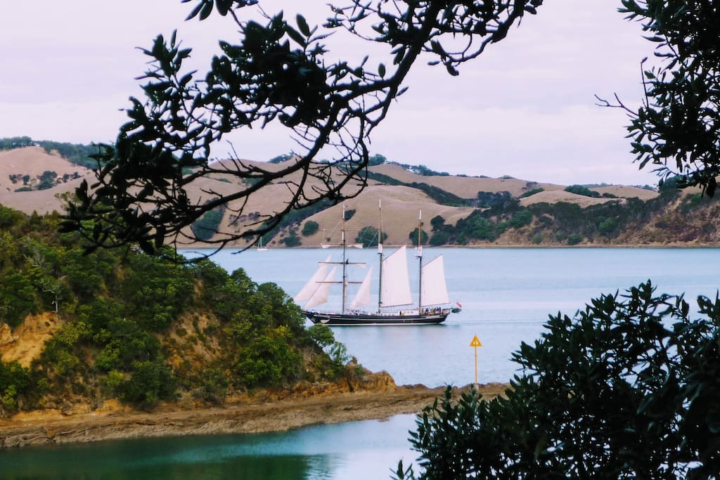 The Spirit of New Zealand viewed from the deck