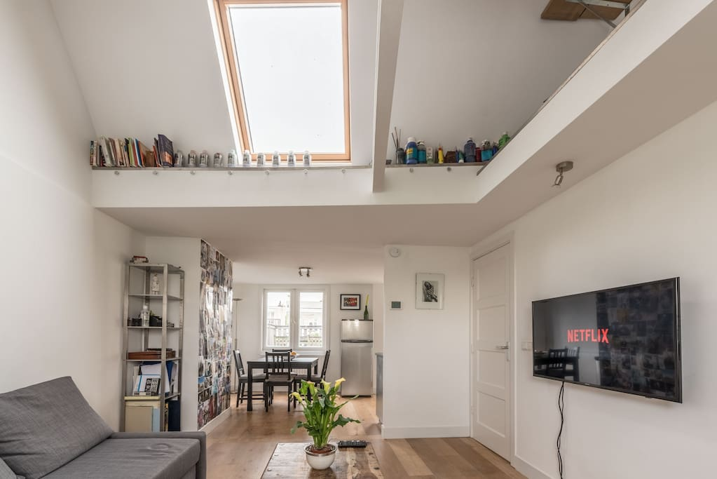 City center apt top floor with roof terrace for Appartamenti amsterdam vacanze