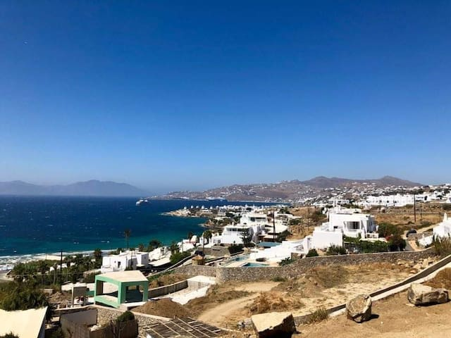 Arion 2 new, Sea view over Town of Mykonos
