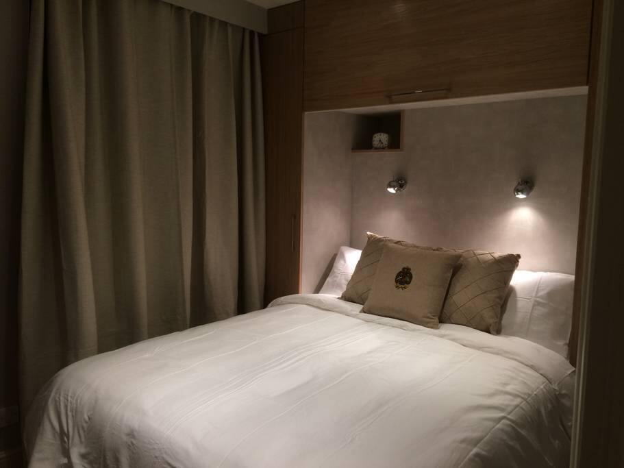 Comfortable Queen bedroom for a quiet night's sleep