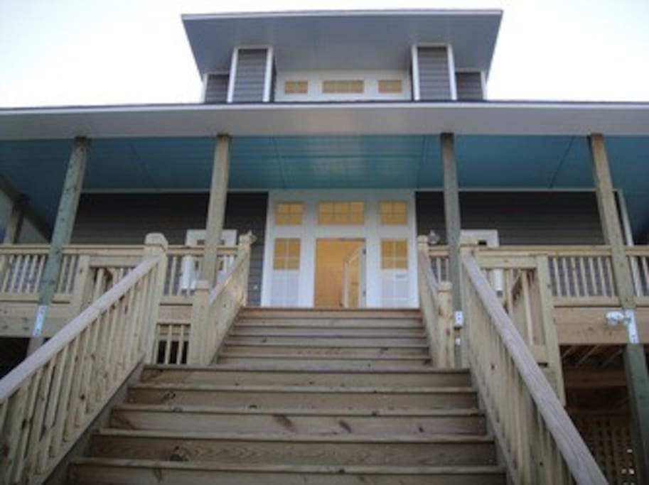 Front stairs and porch