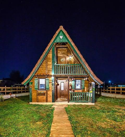 O casă din lemn de basm