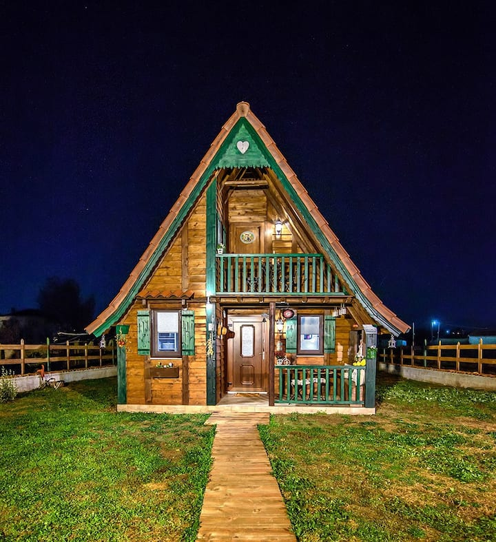 A fairy tale wooden house