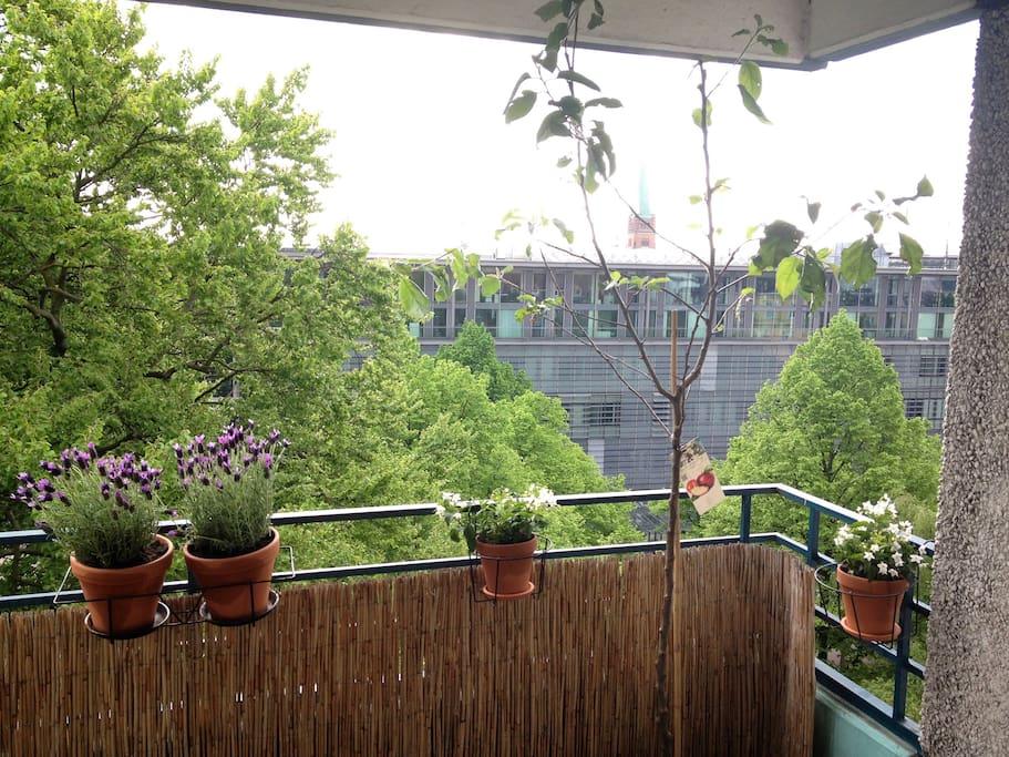 Balcony at summertime