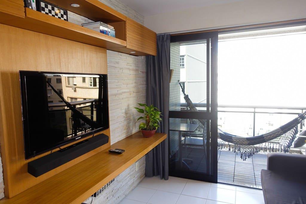 Sala com varanda / living room