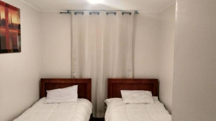 Pieza, dos camas, en dpto, La Florida