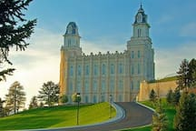 Fourty minutes south on Hwy 89 , Manti LDS Temple.  https://www.churchofjesuschrist.org/ temples Mormon Miracle Pageant (seasonal) http://mantipageant.org/ Free to the public. Final season - 2019