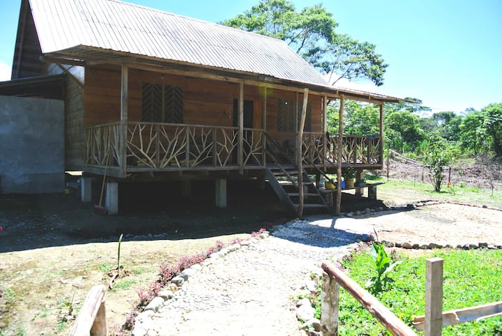 Comfortable cabin for rent in rainforest community