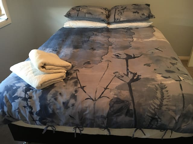 The 'Blue' room. Our latest addition. Comfortable Queen bed.