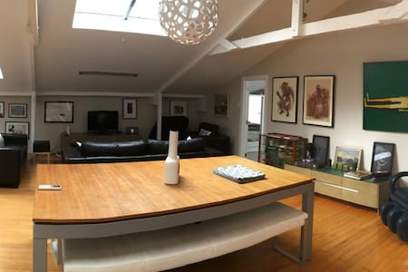 2 bedroom loft apartment living walk to octagon