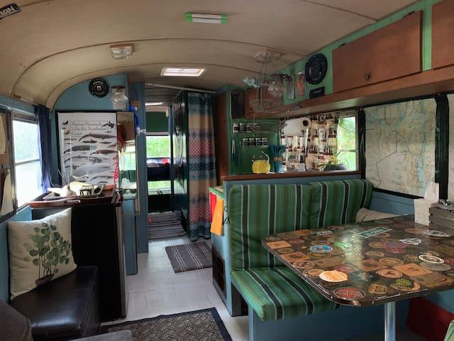 Cozy, Colorful Vintage Bus