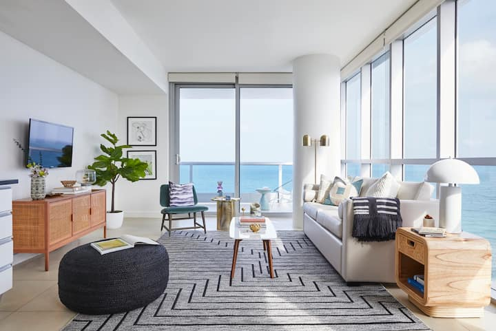Domio | Miami Beach | Chic Corner Ocean View One Bedroom w/ Balcony