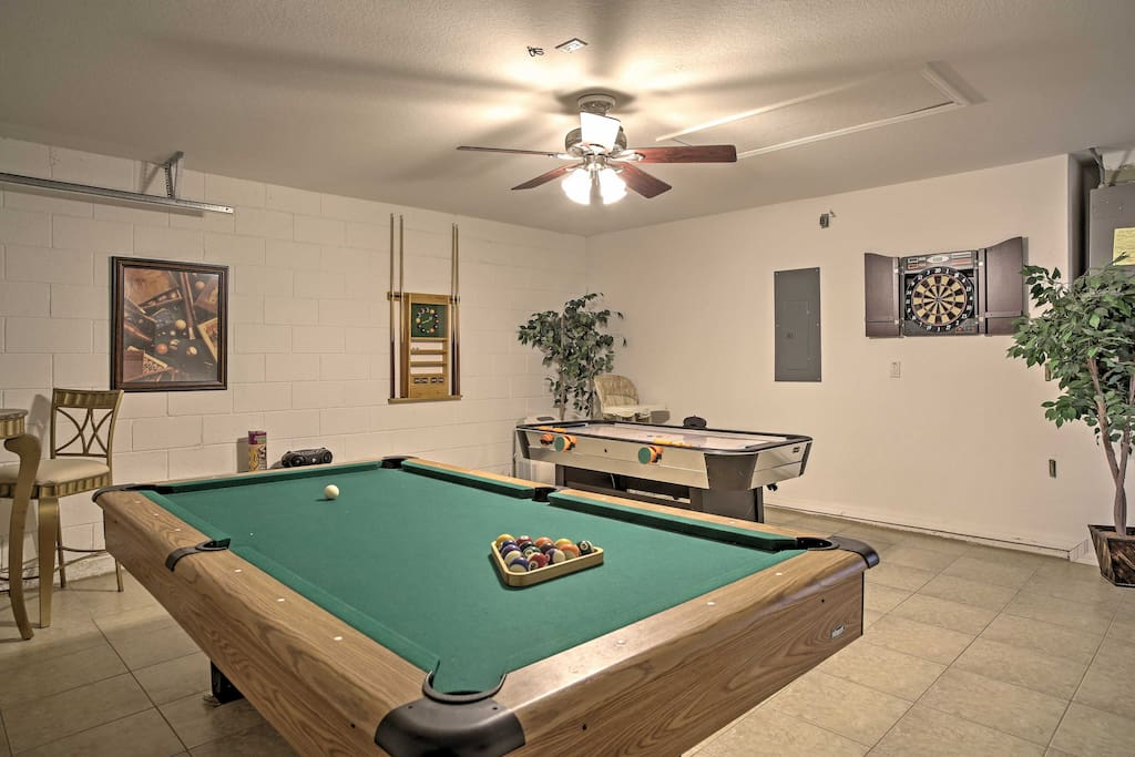 Challenge your travel companions to a game of air hockey or billiards.