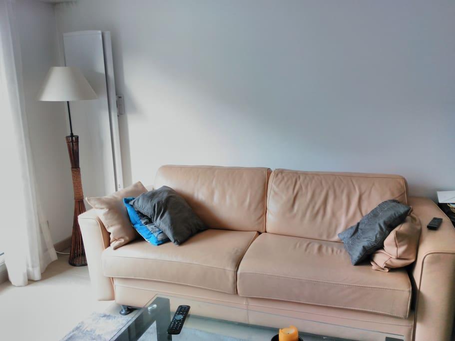 Canapé-lit dans le séjour