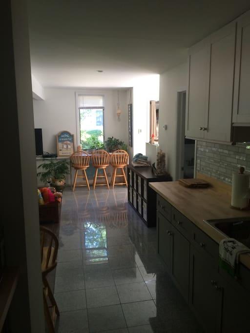 Private kitchenette, private bathroom, separate entrance