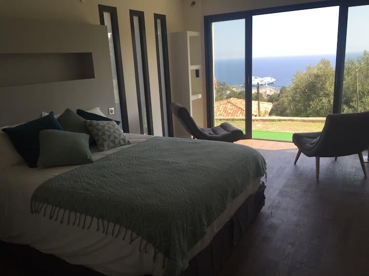 Chambre de charme avec vue magnifique sur Bastia