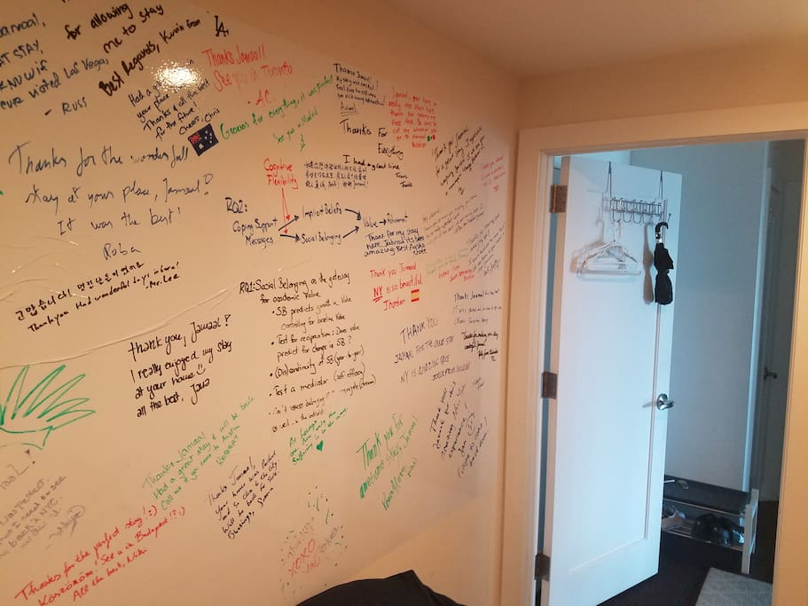 Airbnb Guest Wall of Fame!